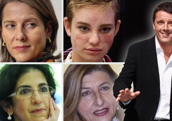 Benigni,Gianotti,Nicolini,Vio,Antonelli con Renzi a Casa Bianca