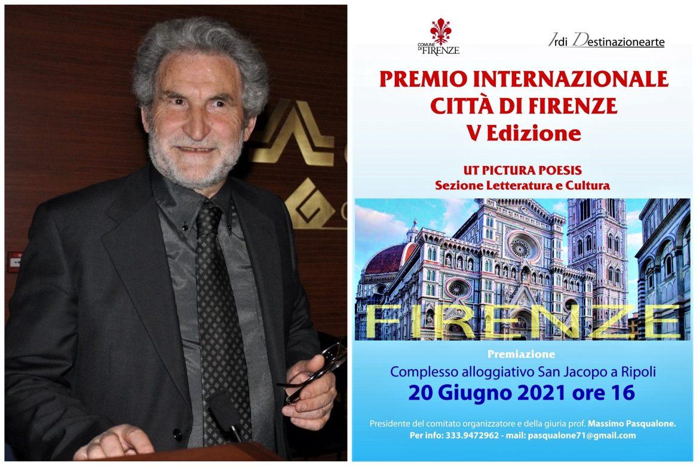 Goffredo Palmerini insignito del Premio internazionale Città di Firenze 2021